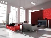 Sala moderna Foto de archivo libre de regalías