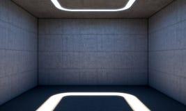 Sala moderna concreta Imagens de Stock Royalty Free