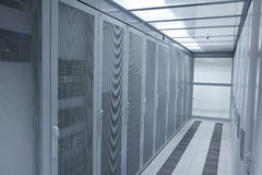 Sala moderna do servidor da rede Foto de Stock Royalty Free