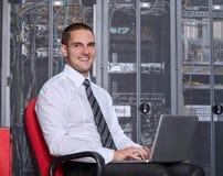Sala moderna do servidor do datacenter Imagens de Stock