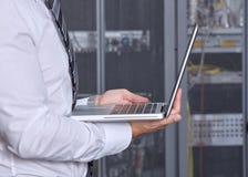 Sala moderna do servidor do datacenter Imagem de Stock Royalty Free