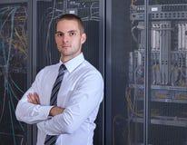 Sala moderna do servidor do datacenter Imagem de Stock