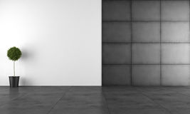 Sala moderna preto e branco Foto de Stock Royalty Free