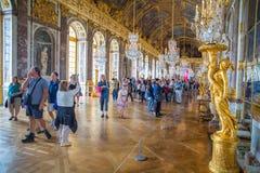 sala odzwierciedla Versailles Zdjęcie Stock