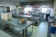 Sala operatoria del ristorante Immagine Stock Libera da Diritti