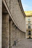 Sala Palatului Palace Hall i Bucharest, Rumänien är en konferensmitt och konserthall Kommunistisk brutalistarkitektur royaltyfria bilder