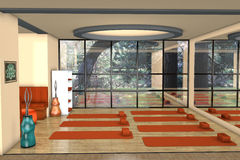 Sala para praticar do youga Imagens de Stock Royalty Free