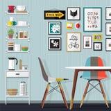 Sala pequena do jantar Imagem de Stock Royalty Free
