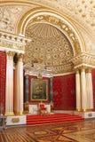 Sala pequena do trono de Petrovsky do palácio do inverno em St Petersbu fotografia de stock royalty free