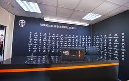 Sala per conferenze allo stadio di Mestalla Immagine Stock