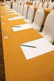 Sala per conferenze prima della riunione d'affari fotografia stock libera da diritti