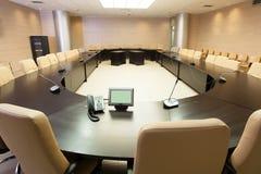 Sala per conferenze vuota Fotografie Stock