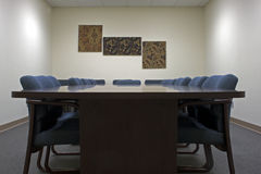 Sala per conferenze vuota Immagini Stock Libere da Diritti