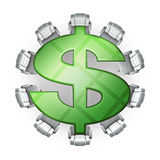 sala posiedzeń dolar Zdjęcie Royalty Free