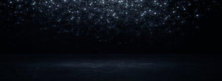 Sala preta vazia do estúdio Fundo escuro Textura vazia escura abstrata da sala do estúdio fotos de stock royalty free