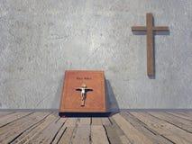 Sala religiosa - 3D rendem Imagem de Stock Royalty Free