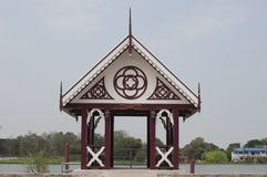 Sala Rim Nam Wat Niwet Thammaprewat Imagem de Stock