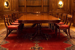 Sala riunioni classica Fotografia Stock Libera da Diritti