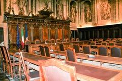 Sala riunioni italiana del consiglio comunale Fotografia Stock