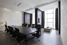 Sala riunioni moderna vuota fotografia stock