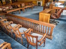 Sala sądowa, kondygnacja okręgu administracyjnego gmach sądu fotografia stock