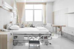 Sala szpitalna z łóżkami i wygodny medycznym wyposażającymi w mo Obrazy Royalty Free