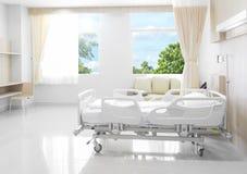Sala szpitalna z łóżkami i wygodny medycznym wyposażającymi z na Zdjęcia Stock