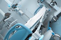 Sala szpitalna z nowożytnym wyposażeniem Zdjęcia Royalty Free