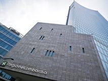 Sala Testori - sedi di regione della Lombardia immagine stock libera da diritti