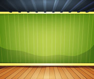 Sala vazia com papel de parede listrado ilustração do vetor