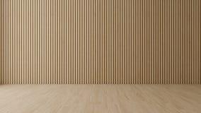 Sala vazia com parede de madeira foto de stock royalty free