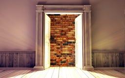 Sala vazia com porta aberta Fotografia de Stock