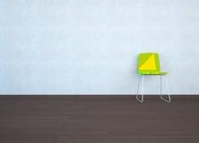 Sala vazia com uma cadeira ilustração stock