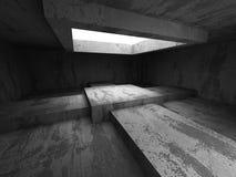 Sala vazia concreta escura Fundo moderno da arquitetura do Grunge Foto de Stock