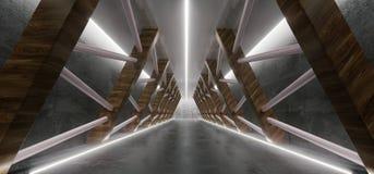 Sala vazia de Loong Modern Futuristic Interior Corridor com Triang ilustração do vetor