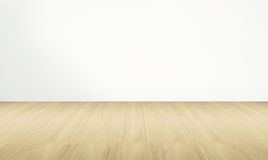 Sala vazia e assoalho de madeira com parede branca Foto de Stock