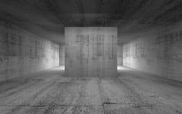 Sala vazia, interior concreto abstrato ilustração 3D Imagem de Stock