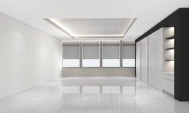 A sala vazia moderna, 3d rende o design de interiores, zombaria acima Fotografia de Stock Royalty Free