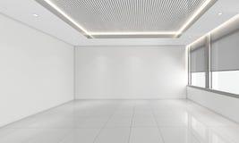 A sala vazia moderna, 3d rende o design de interiores, zombaria acima Foto de Stock