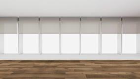 A sala vazia moderna, 3d rende o design de interiores, zombaria acima do illustrati Imagem de Stock Royalty Free