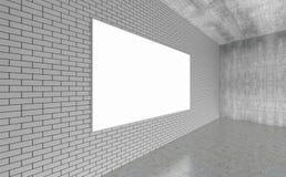A sala vazia moderna, 3d rende o design de interiores, zombaria acima do illustrati Fotos de Stock Royalty Free