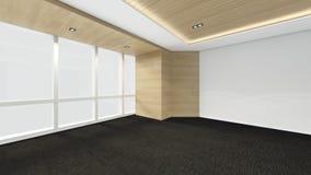 A sala vazia moderna, 3d rende o design de interiores, zombaria acima do illustrati Foto de Stock
