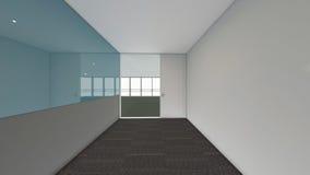 A sala vazia moderna, 3d rende o design de interiores, zombaria acima do illustrati Imagem de Stock