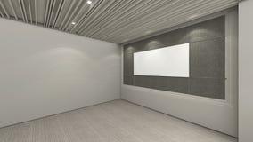A sala vazia moderna, 3d rende o design de interiores, zombaria acima do illustrati Fotografia de Stock