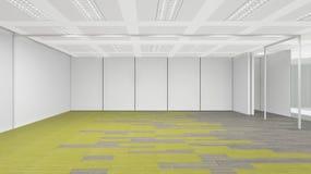 A sala vazia no escritório incorporado, 3d rende o design de interiores Fotos de Stock