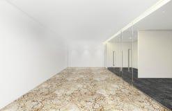 A sala vazia no escritório incorporado, 3d rende o design de interiores Fotos de Stock Royalty Free