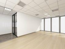 A sala vazia no escritório incorporado, 3d rende o design de interiores, zombaria Imagens de Stock Royalty Free