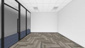 A sala vazia no escritório incorporado, 3d rende o design de interiores, zombaria Imagem de Stock