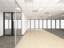 A sala vazia no escritório incorporado, 3d rende o design de interiores, zombaria Fotografia de Stock