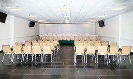 Sala vazia para a conferência de imprensa fotos de stock royalty free